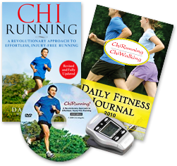 ChiRunning Book by Danny Dreyer, Daily Fitness Journal, DVD, Seiko Metronome