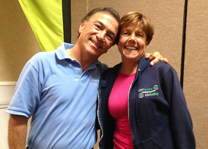 Angela with Danny Dreyer, the founder of ChiRunning and ChiWalking